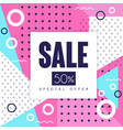 sale banner special offer up to 50 percent off vector image vector image