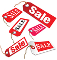 sale ticket in red color vector image vector image
