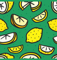 seamless pattern with yellow lemons vector image vector image