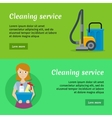 Set of Cleaning Service Banners vector image