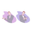 sign language invitation to enter applause vector image