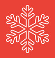 snowflake line icon new year and christmas vector image vector image