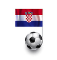 Soccer Balls or Footballs with flag of Croatia vector image vector image