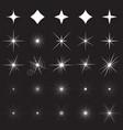 sparkle symbols vector image vector image
