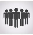 team leadership icon vector image