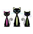 Three Cats vector image