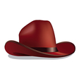 traditional cowboy hat vector image vector image