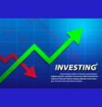 trending arrow up investing background vector image