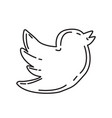 twitter icon doodle hand drawn or black outline vector image