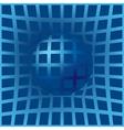warped background vector image