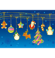 Winter background with Christmas garland vector image