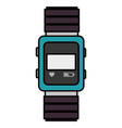 wristle watch isolated icon vector image