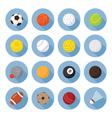 Sports Equipment Ball Flat Icons Set vector image