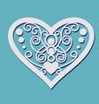 lace heart shape vector image