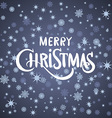 merry Christmas greeting card blue background vector image