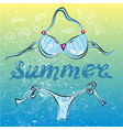 bikini swimming suit on summer beach vector image