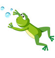 a frog character on white background vector image vector image