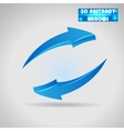 abstract blue arrows 3d vector image