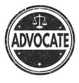 advocate grunge rubber stamp vector image vector image