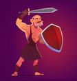 ancient greek spartan or roman warrior gladiator vector image
