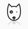 Animal Portrait Line Icon Dog vector image
