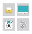 Apps and frames icon set vector image