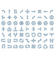 arrow icon set in flat style symbols vector image vector image