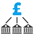 Bank Pound Expenses Flat Icon Symbol vector image vector image
