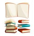 big piles set books vector image vector image