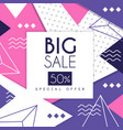 big sale banner special offer 50 percent off vector image vector image