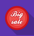 big sale icon in flat style isolated on white vector image vector image
