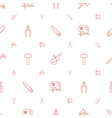 carpentry icons pattern seamless white background vector image vector image
