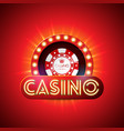 casino with neon light letter and vector image vector image