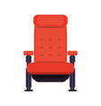 cinema chair isolated vector image vector image