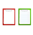 clipboard base white blank paper vector image