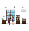 couple business with speech bubble avatar vector image vector image