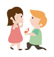 couple cute man and woman icon image vector image