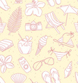 Cute hand drawn sketch line icons seamless pattern vector image vector image