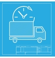 delivery sign white section icon vector image vector image