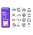 electronic commerce line icons set vector image