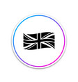 flag great britain icon isolated on white vector image vector image
