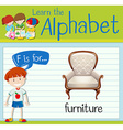 Flashcard letter F is for furniture vector image vector image