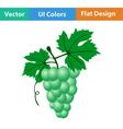 Flat design icon of Grape vector image vector image