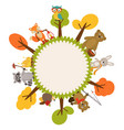 frame with animals of forest vector image vector image