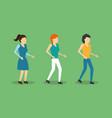group women standing characters vector image vector image