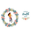 healthy lifestyle cute with vector image vector image