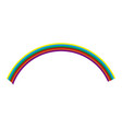 isolated colored rainbow icon vector image