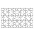 jigsaw puzzle set of 104 pieces vector image vector image