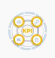 kpi infographics vector image vector image