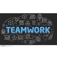 lines template teamwork vector image